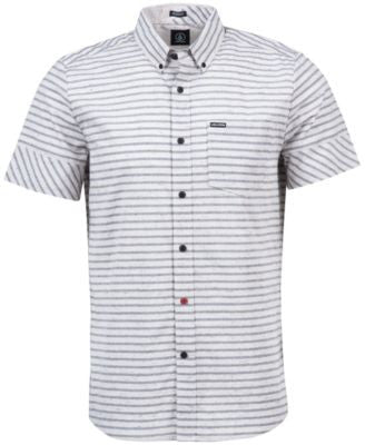 Volcom Men's Melvin Horizontal-Stripe Short-Sleeve Shirt