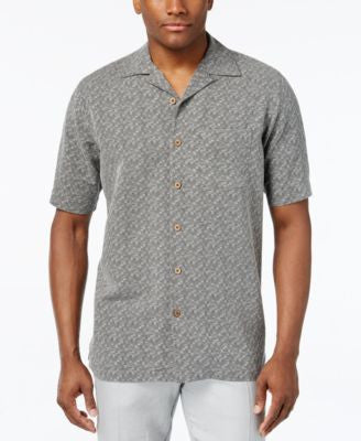 Tasso Elba 100% Silk Printed Short-Sleeve Shirt, Only at Vogily