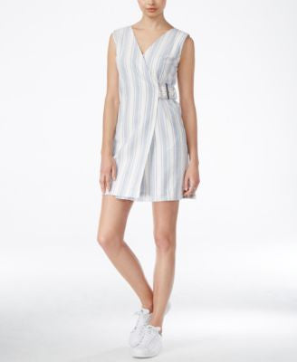 RACHEL Rachel Roy Striped Wrap Dress