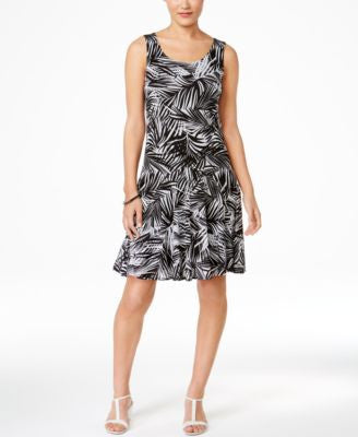Style & Co. Petite Printed Sleeveless A-Line Dress, Only at Vogily