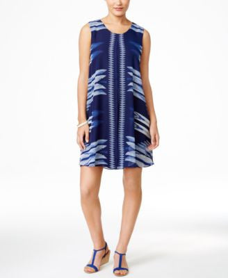 Style & Co. Printed Sleeveless Dress, Only at Vogily