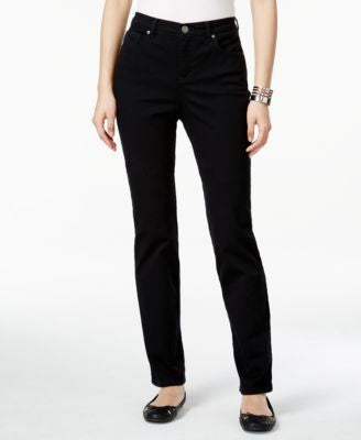 Style & Co. Tummy-Control Colored Wash Straight-Leg Jeans, Only at Vogily