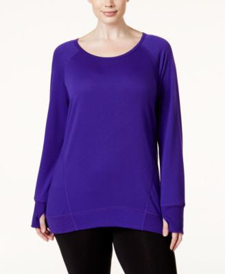 Ideology Plus Size Long Sleeve French Terry Raglan, Only at Vogily