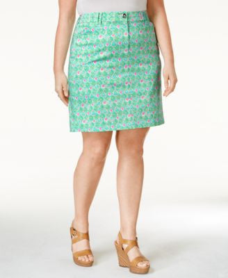 Charter Club Plus Size Printed Skort, Only at Vogily