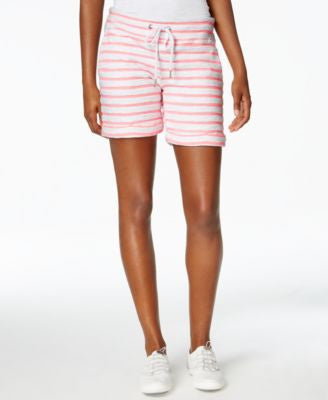 Calvin Klein Performance Tie-Waist Striped Shorts