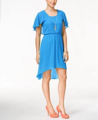 Thalia Sodi Flutter-Sleeve High-Low Dress, Only at Vogily
