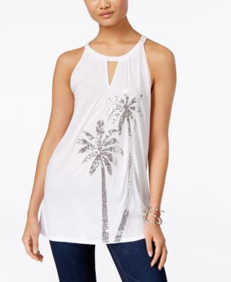 INC International Concepts Embellished Keyhole Halter Top, Only at Vogily
