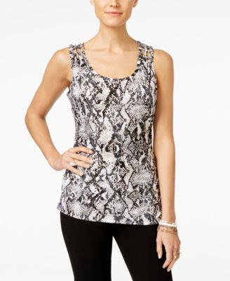 INC International Concepts Printed Tank Top, Only at Vogily