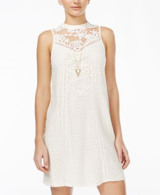 American Rag Juniors' Crocheted Shift Dress, Only at Vogily