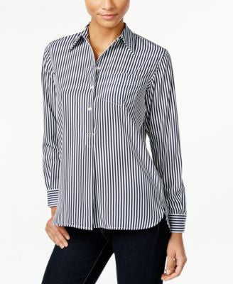 Lauren Ralph Lauren Striped Tunic Shirt