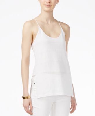 Armani Exchange Textured Racerback Camisole