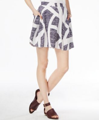 Armani Exchange Printed A-Line Mini Skirt