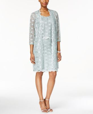 R & M Richards Lace Sheath Dress and Jacket