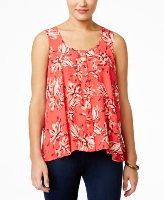 Style & Co. Floral-Print Sleeveless Top, Only at Vogily