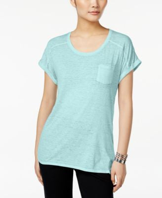 Style & Co. Petite One-Pocket Burnout Tee
