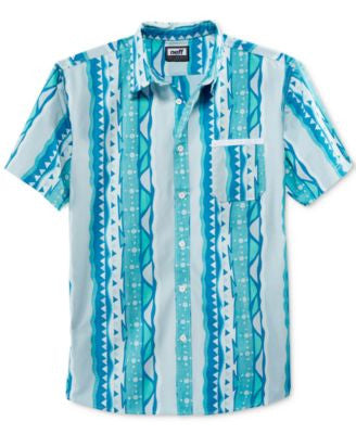 Neff Men's Morris Abstract-Print Short-Sleeve Shirt