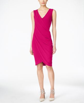 RACHEL Rachel Roy Draped Sheath Dress