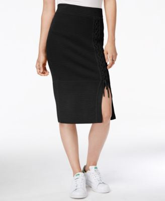RACHEL Rachel Roy Lace-Up Sweater Skirt