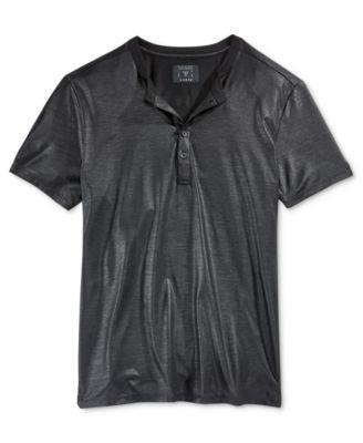 GUESS Men's Short Sleeve Mason Shine Henley Shirt
