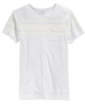 GUESS Men's Walker Stripe Longline Pocket T-Shirt