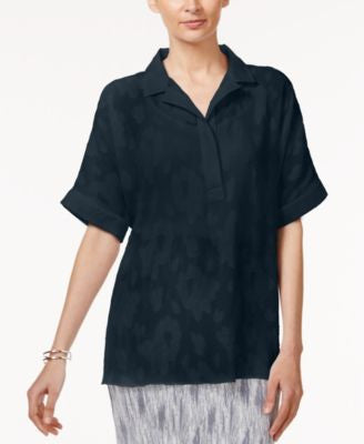 Alfani Petite Jacquard Shirt, Only at Vogily