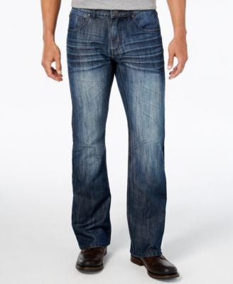 INC International Concepts Men's Aber Modern Boot-Fit Jeans, Only at Vogily