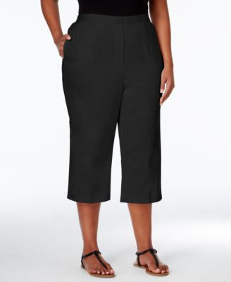 Alfred Dunner Plus Size Sao Paolo Collection Pull-On Capri Pants