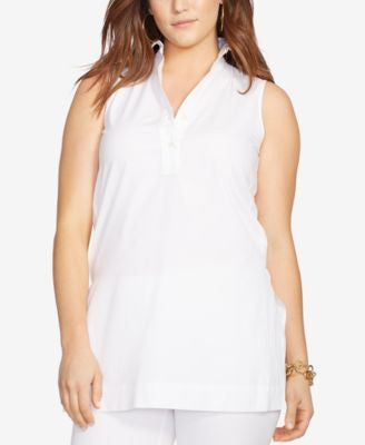 Lauren Ralph Lauren Plus Size Sleeveless Shirt