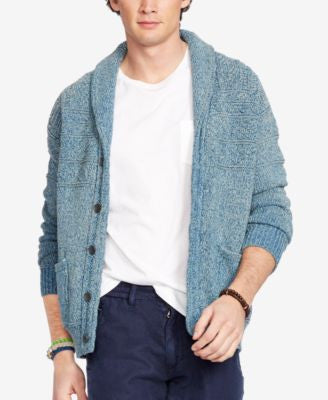 Polo Ralph Lauren Men's Indigo Cotton Shawl Cardigan