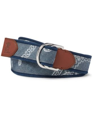 Polo Ralph Lauren Men's Coastal Bandana Belt