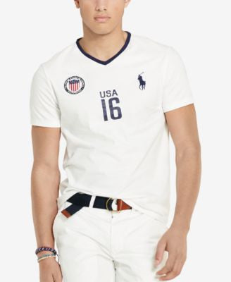 Polo Ralph Lauren Custom-Fit USA V-Neck T-Shirt
