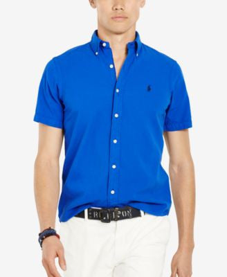 Polo Ralph Lauren Men's Short-Sleeve Seersucker Shirt