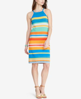 Lauren Ralph Lauren Striped Sleeveless Sweater Dress