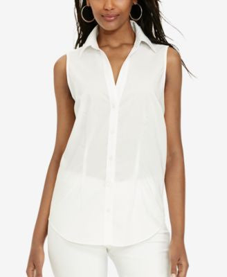 Lauren Ralph Lauren Sleeveless Button-Down Shirt