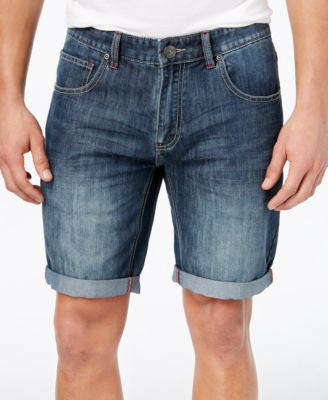 INC International Concepts Men's Cavill Classic-Fit Denim Shorts, Only at Vogily