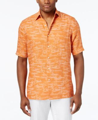 Tasso Elba Men's Classic-Fit Graphic-Print Short-Sleeve Shirt, Only at Vogily