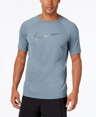 Nike Men's Hydro Dri-FIT Graphic-Print Logo Swim Shirt