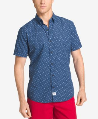 IZOD Men's Short-Sleeve Printed Shirt