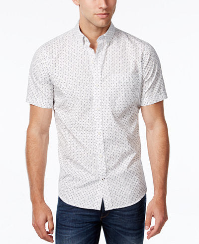 IZOD Men's Anchor Print Short-Sleeve Shirt