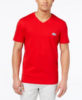 Lacoste Men's Contrast Croc V-Neck T-Shirt, Only at Vogily