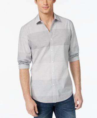 Alfani Men's Slim-Fit Horizontal-Stripe Shirt, Only at Vogily