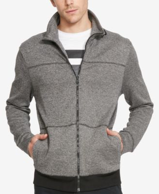 Kenneth Cole Reaction Men's Knit Stand-Collar Full-Zip Jacket