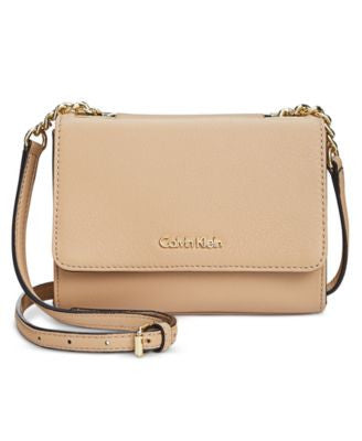 Calvin Klein Pebble Leather Mini Crossbody