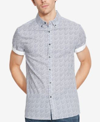 Kenneth Cole Reaction Men's Palm-Print Short-Sleeve Shirt
