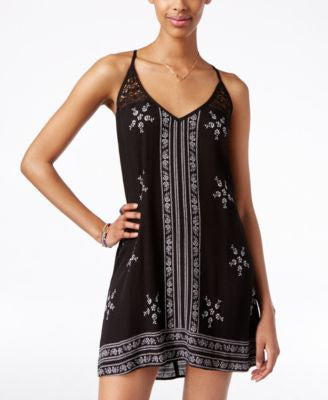 American Rag Sleeveless Embroidered Slip Dress, Only at Vogily