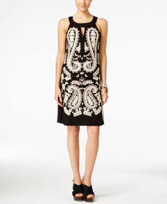 INC International Concepts Petite Embroidered Sheath Dress, Only at Vogily
