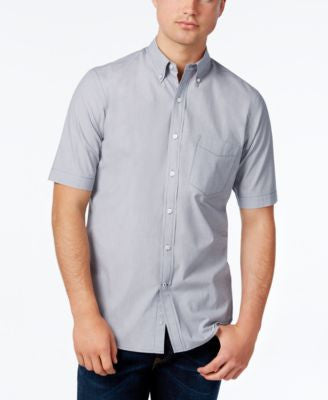 Club Room Men's Big & Tall Micro-Stripe Short-Sleeve Shirt, Only at Vogily