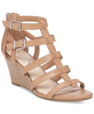 Jessica Simpson Shalon Strappy Mid-Wedge Sandals