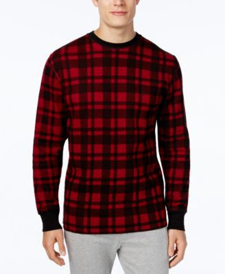 Polo Ralph Lauren Men's Waffle-Knit Plaid Long-Sleeve Sleep Shirt