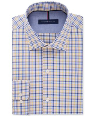 Tommy Hilfiger Men's Slim-Fit Non-Iron Multi-Check Dress Shirt